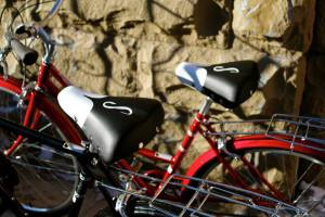 Schwinn red bikes