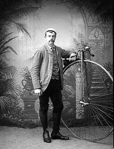 Man with a Penny Farthing